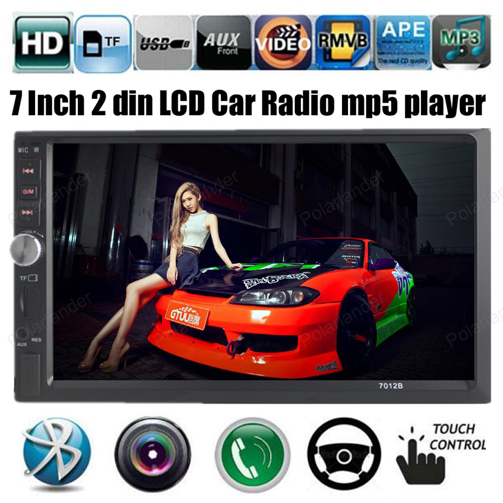 NEW 7'' inch LCD Touch screen car radio mp5 player BLUETOOTH touch screen 1080P movie Support rear view camera 2 din car audio car radio 7 inch lcd touch screen car radio player bluetooth hands free movie rear view camera 2 din audio stereo mp5