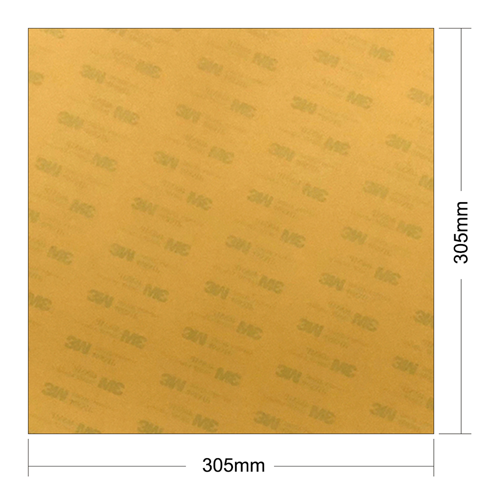ENÉRGICO 3D Peças Da Impressora Folha 305x305x0.2mm Frio Ultem PEI Construir Folha para CR-10 Cama Quente com Fita Adesiva 3M 468MP