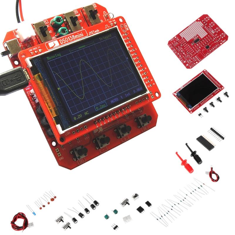 NEW DSO138mini Digital Oscilloscope Kit DIY Learning Pocket-size DSO138 Upgrade image