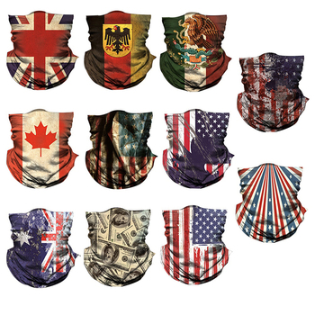 Bicycle 3D Flag Printed Headband Neck Warmer buff Cycling snowboard Face Mask Bike Head Scarf Bandana Scarves turban Mask
