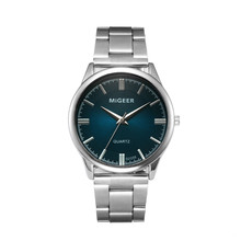 MIGEER Man Watches Crystal Fashion Stainless Steel Analog Qu