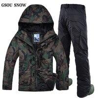 GSOU снег двойной пластины 2018 новых зимних видов спорта Для мужчин s лыжный костюм Для мужчин открытый Новый Водонепроницаемый ветрозащитный
