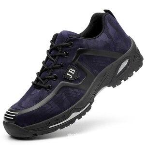 Image 3 - أحذية عمل واقية العمل التأمين الأحذية الذكور تنفس مزيل العرق مقدمة حذاء من المعدن مكافحة تحطيم مكافحة ثقب موقع الأحذية
