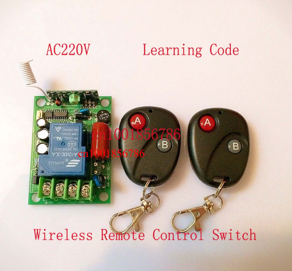 220V 30A 3000W RF Wireless Remote Control Switch Light/LED/Lamp Applicance ON OFF Working Way adjusted 2pcs receiver transmitters with 2 dual button remote control wireless remote control switch led light lamp remote on off system