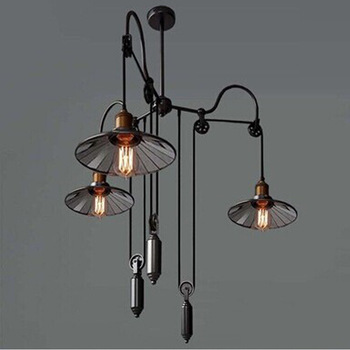 шкив светильник | Винтажный подвесной светильник в стиле лофт с железным шкивом, лампа для кухни, украшение дома E27, светильник Эдисона, светильники, бесплатн...