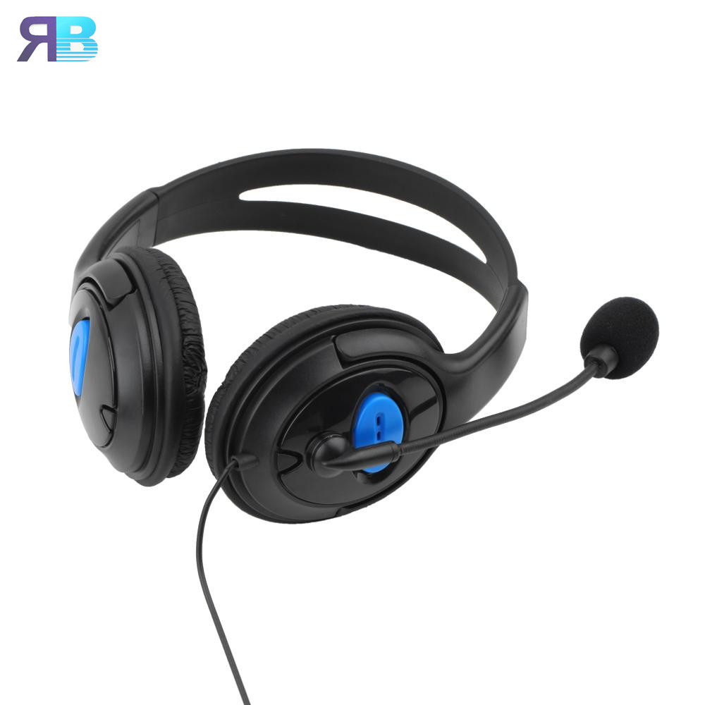 Wired Gaming Headset Earphones Headphones with Microphone Mic Stereo Supper Bass for Sony PS4 for PlayStation 4 Gamers Wholesale high quality wired headphone for ps4 gaming headset headphone microphone mic chat for playstation 4 ps4 black