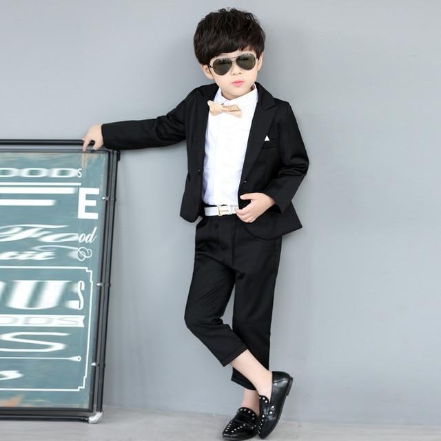 2c43cb915d6e 2019 New Autumn Baby Boys Suit Cotton Coat Pants Tie 3 Piece Kids ...