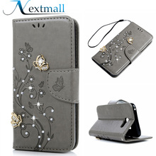 Nextmall 3D Glitter Dimaond Case For Samsung Galaxy A5 2017 A520 A520F A5200 Flip Leather Stand Phone Cover Wallet Bag T20