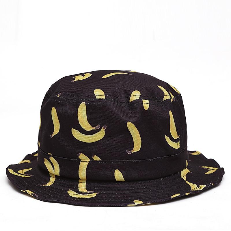 2017 new Banana Bucket Hats Women Unisex Fashion Bob Caps Hip Hop Gorro Men  Summer Caps Beach Sun Fishing Bucket Hat ventilated-in Bucket Hats from  Apparel ... ba288789af1