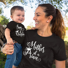 1pcs Son of Queen Mother of A Prince Mommy and Son Shirts Mommy and Kid