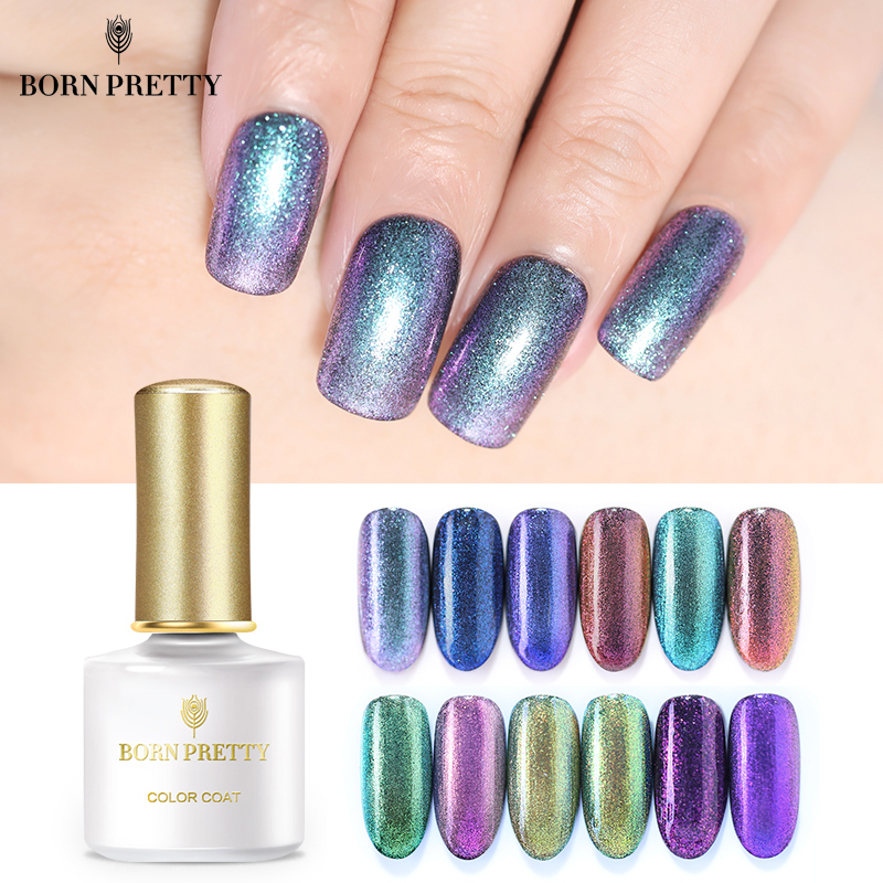 купить BORN PRETTY Chameleon Nail Gel Polish Glitter 6ml Sequins UV Gel Nail Polish Soak Off Nail Art Laquer Need Black Base по цене 339.31 рублей