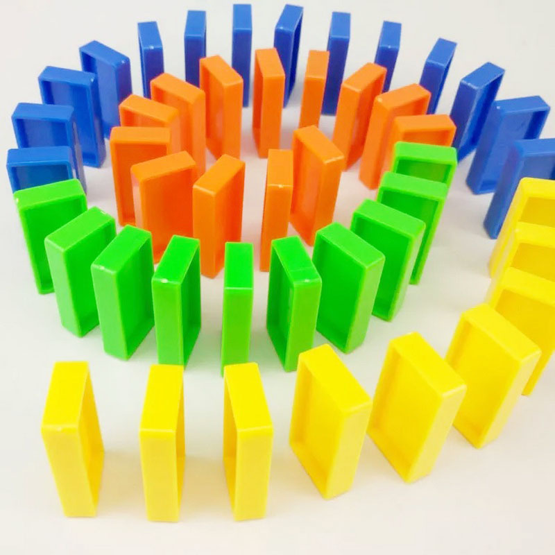 Domino Blocks Children Color Sort Kids Early Dominoes Puzzle Games Educational Toys For Children Gift Birthday Funny
