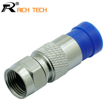 RG6 Coax Cable Connector Compression F connectors Coaxial F type Wire connector