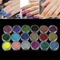 18 Colors Nail Art Glitter Powder For UV GEL Acrylic Powder Decoration Tips