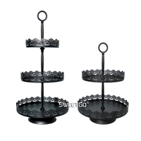 1 Pcs European Iron Black 2 & 3 Tier Fruits Cakes Desserts Plate Stand for Wedding Party Cakecups #1510520