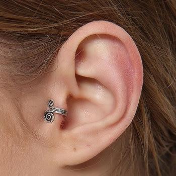 Sterling Silver Snail Clip Earring | Boho Fairy