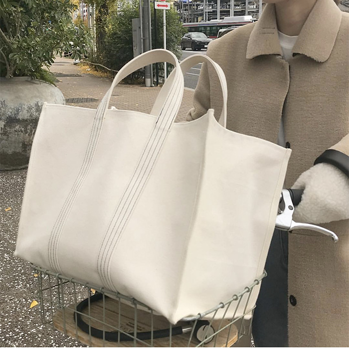 2019 Luxury Brand Bag Fashion Canvas Bags Shopping Handbags Lady Women Girl Large Size Handbag Brands Casual Tote Shoulder-in Top-Handle Bags from Luggage & Bags
