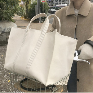 Image 1 - 2019 Luxury Brand Bag Fashion Canvas Bags Shopping Handbags Lady Women Girl Large Size Handbag Brands Casual Tote Shoulder