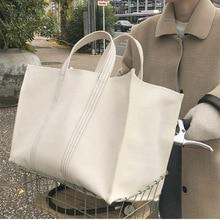 Bolsa casual feminina de lona, bolsa feminina de lona da moda, grande, de ombro, de marca luxuosa, 2019