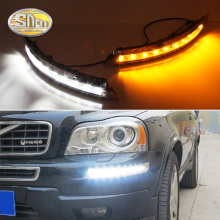 2pcs For Volvo XC90 2007 2008 2009 2010 2011 2012 2013 Car Daytime Running Lights LED DRL Lamp Turn Signal fog lamp Flashing brand new turn off and dimming style relay led car daytime running lights for chevrolet cruze 2010 2011 2012 2013 with fog lamp
