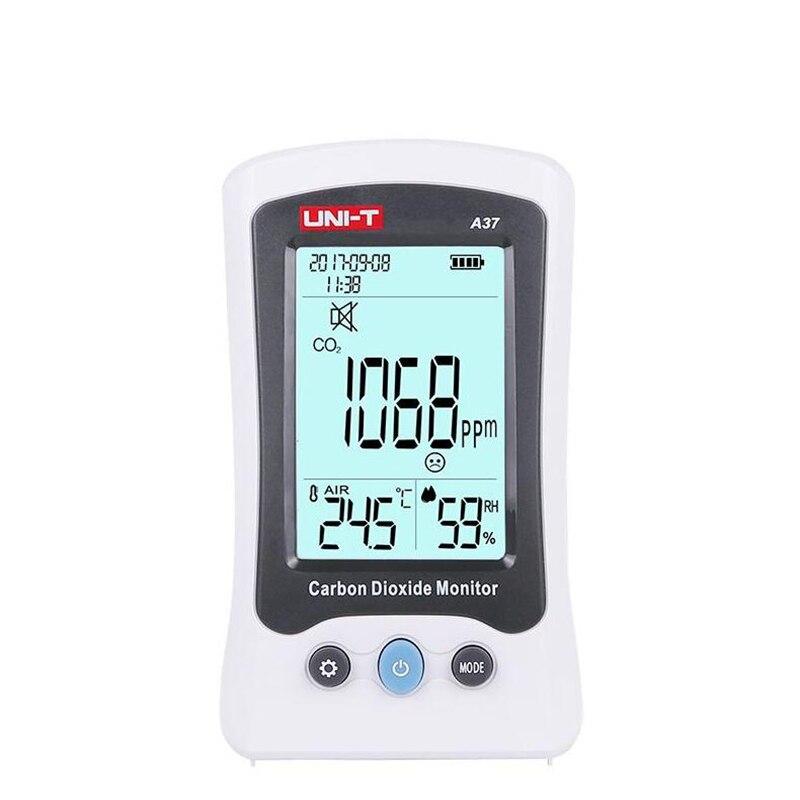 UNI-T a37 digital detector de dióxido carbono qualidade do ar laser monitoramento tester co2 medidor