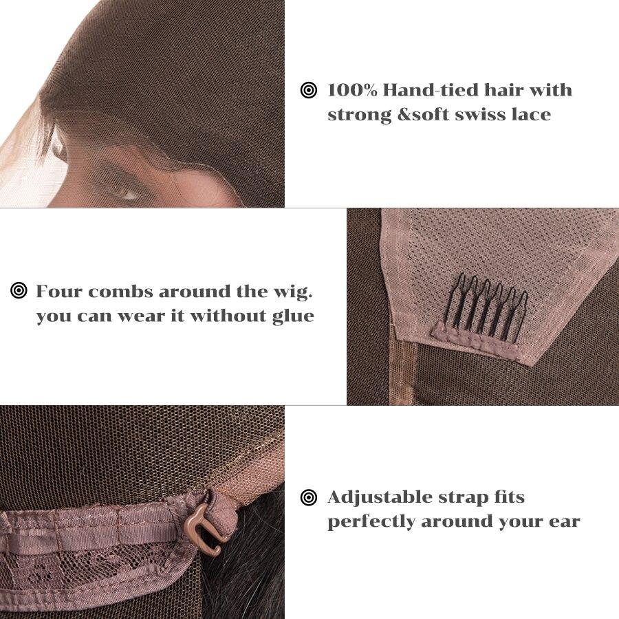 Preden spuščene lasice za lase s polnimi čipkami z otroškimi - Človeški lasje (za črne) - Fotografija 6