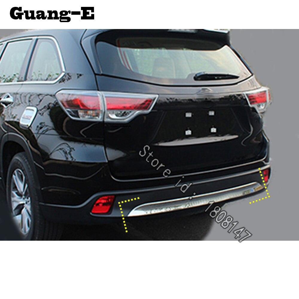 For Toyota Highlander 2018 2019 car sticker cover protection bumper trim rear back tail bottom hoods pedal moulding parts 1pcs