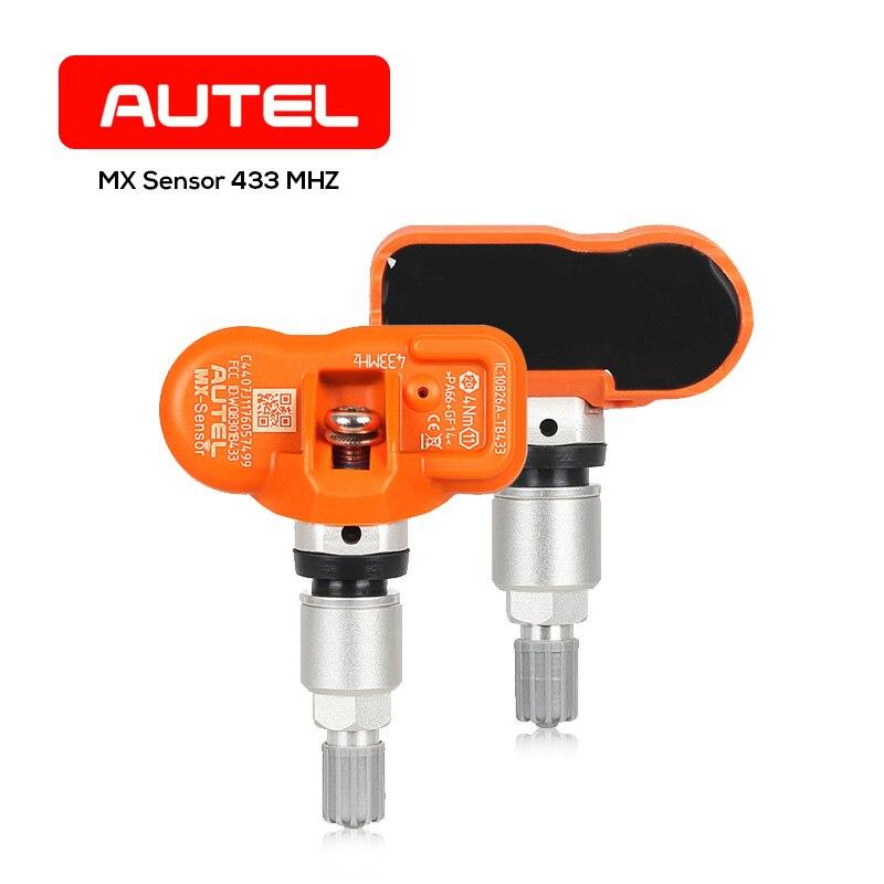 AUTEL MX-Capteur 433 mhz 315 mhz 2 dans 1 MaxiTPMS Pad Surveillance de Pression Des Pneus Système Testeur Lecteur Scanner OBDII 2 outil De Diagnostic