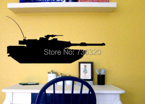 Creative Tank Vinyl Decal Military Army Tank Kid Room Decor Vinyl ...