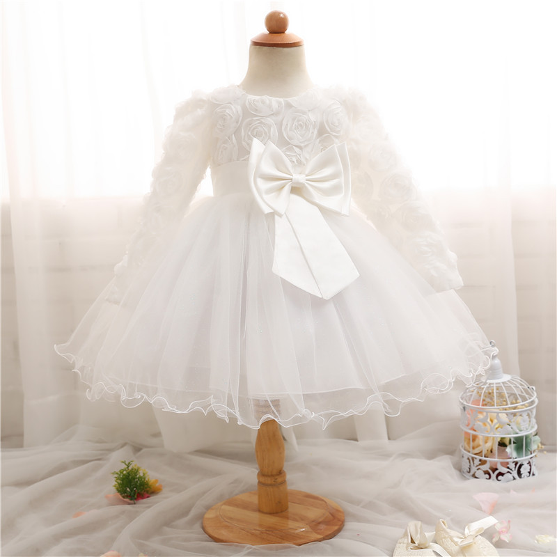 Infant Baby Girl Boutique First Birthday Outfit White