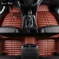 Car floor mats for honda fit, car mat black beige  gray brown