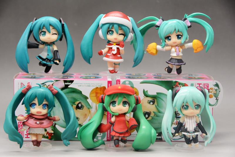 Hatsune Miku Selection Character Vocal Series 01 PVC Action Figures Toys 6pcs/set CVFG118 sonny angel mini figures easter series 6pcs set toys christmas