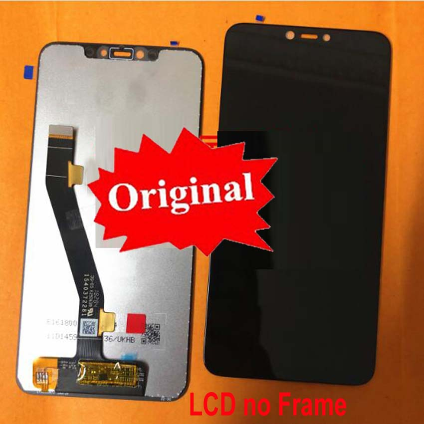 LTPro Original Best LCD Display Touch Screen Digitizer Assembly Sensor Frame bezel For Lenovo S5 Pro