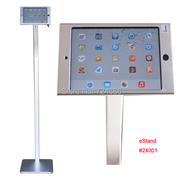 for mini iPad floor stand bracket standing support with lock metal casing metal frame display anti-theft kiosk for retail store for mini ipad desktop stand with lock table security display pos kiosk holder for shop hotel retail sotre 360 rotation