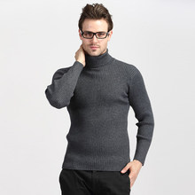 Winter Dikke Warme Coltrui Mannen 2019 Casual Gebreide Kasjmier Trui Mannen Plus Size Slanke Rode Trui Mannen 3XL(China)