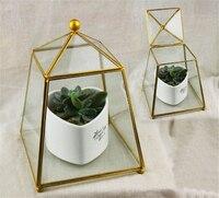 Miniature Victorian Glass House Containers Planter Flowerpot Garden Greenhouse Terrariums for Plants/Succulents Bohemian Decor