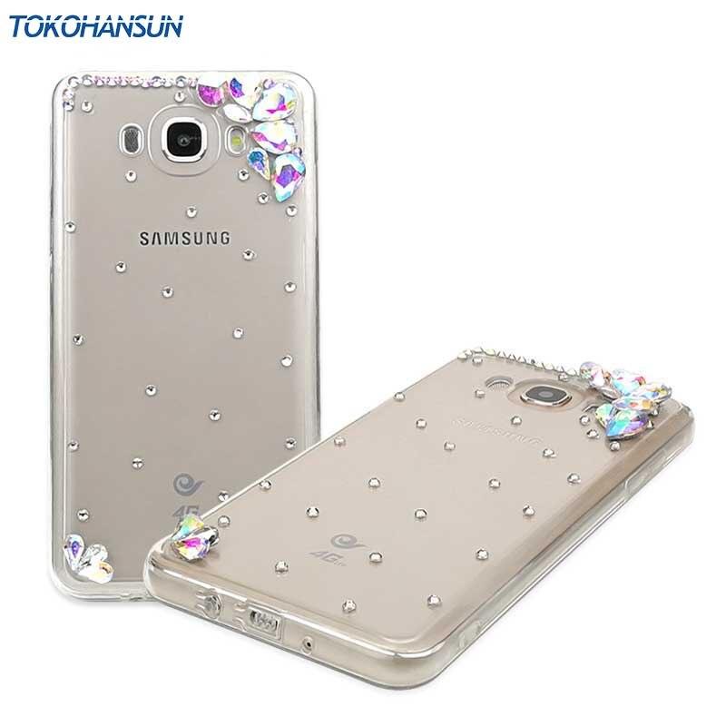 Tokohansun модные 3D DIAMOND Чехол для Samsung Galaxy <font><b>J5</b></font> <font><b>2016</b></font> J3 J7 A3 <font><b>2016</b></font> A5 случае ТПУ Bling Fundas со стразами чехол телефона