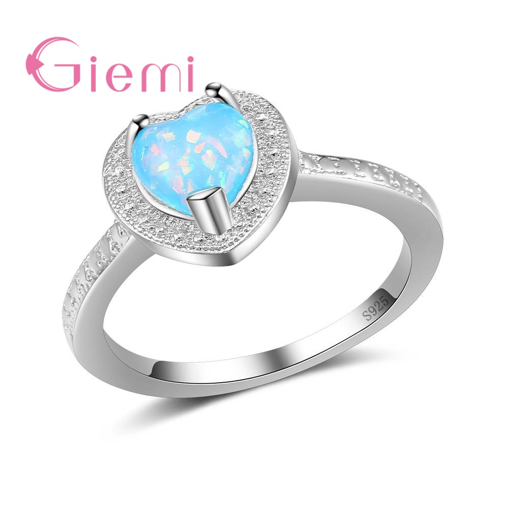 GIEMI 925 Sterling Silver Braided Ring Elegant Style Sweet Heart Ring Girls Birthday Gifts Finger Jewelry For Women Anillos