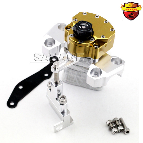 NEW For YAMAHA MT09 MT-09 2014-2015 Gold Motorcycle Steering Damper Stabilizer with Mounting Bracket Kit