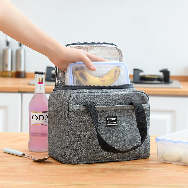 Image 3 - Waterproof Insulated Lunch Bags Oxford Travel Necessary Picnic Pouch Thermal Dinner Box Food Storage Case Accessories Organizer-in Storage Bags from Home & Garden