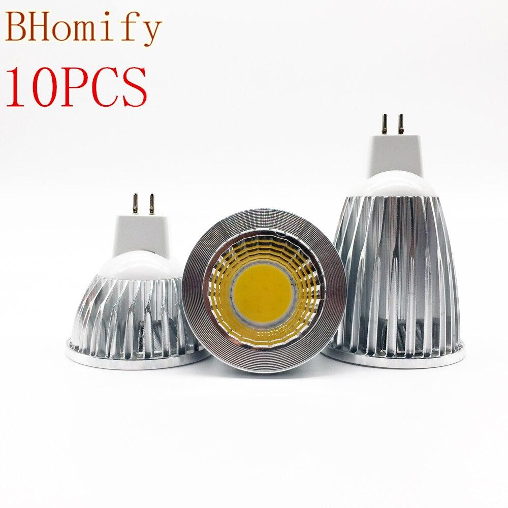 10XNew <font><b>Led</b></font> Cob Spotligh High Power <font><b>Lampada</b></font> <font><b>Led</b></font> MR16 GU5.3 COB 6w <font><b>9w</b></font> 12w Dimmable Warm Cool White MR16DC12V Bulb Lamp GU5.3AC220V