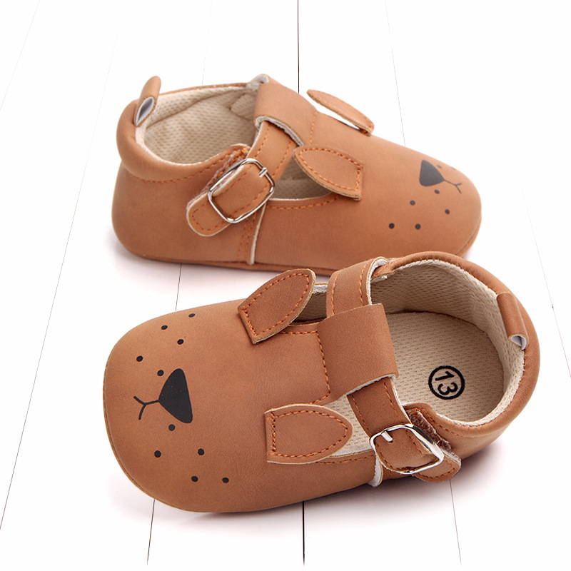 Baby First Walkers Matte leather Shoes for Baby Girl Boy Cartoon Animal Newborn Slippers Footwear Booties Kids Gift Child Shoes (4)