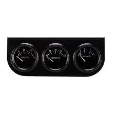 DC12V Indicador de Temperatura de Aceite Medidor de Temperatura del Agua Temperatura Medidor de Presión de Aceite 52mm Triple kit para coches/tractores/motores marinos