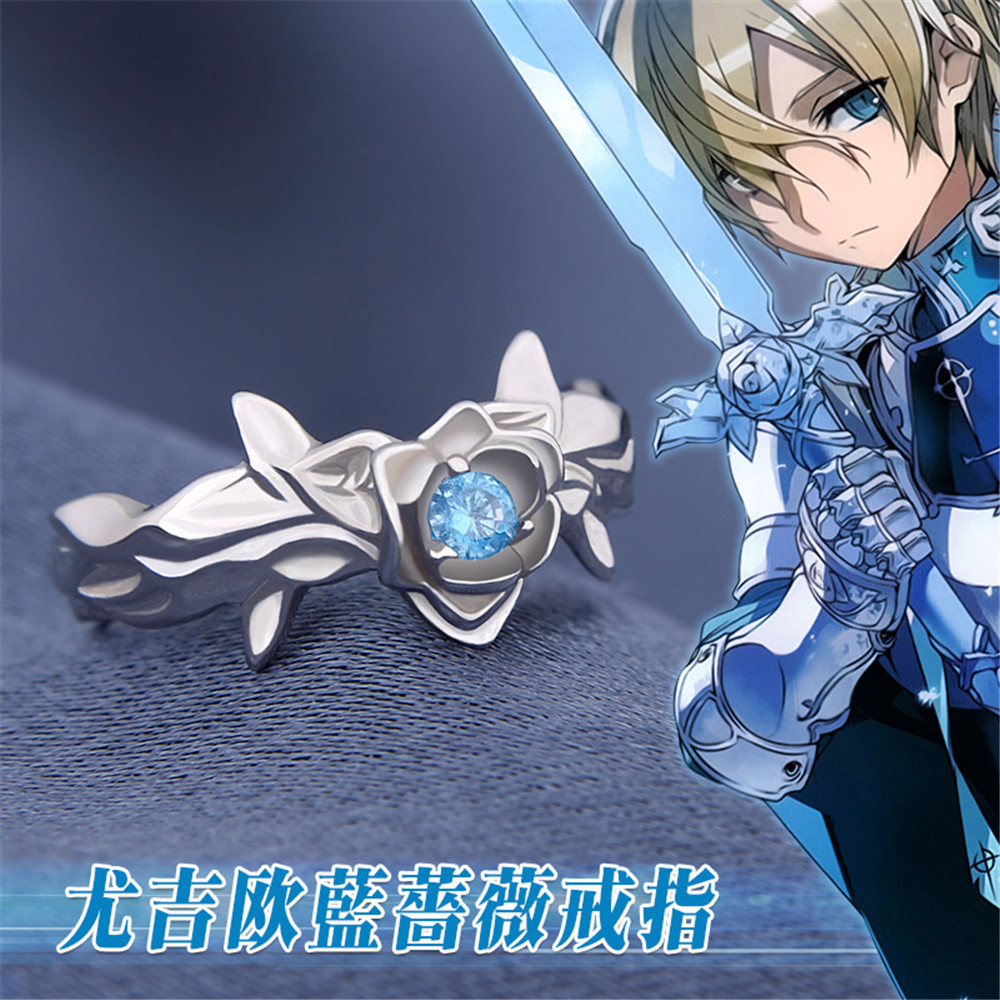 Anime Sword Art Online3 Alicization Eugeo Cosplay 925 Sterling Silver Ring Daily Cos Gift Adjustable Gift