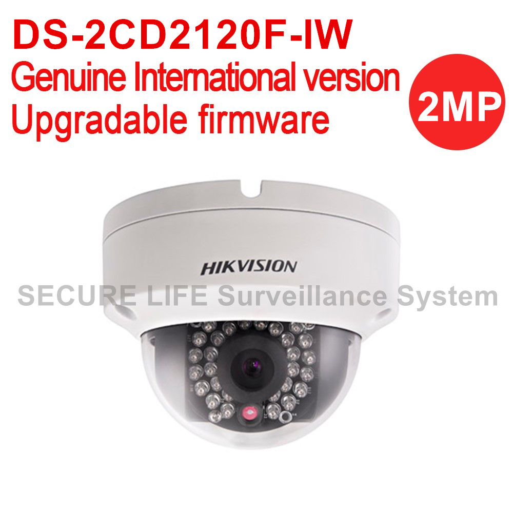 DS-2CD2120F-IW Hikvision English version 2MP Fixed Dome security cctv ip Camera POE, WIFI IR IP66, IK10, sd card recording 128G