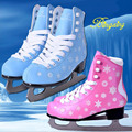Japy Skate Ice Skate Tricks Shoes Adult Child Pink/Blue Ice Skates Professional Flower Knife Ice Hockey Knife Real Ice Skates