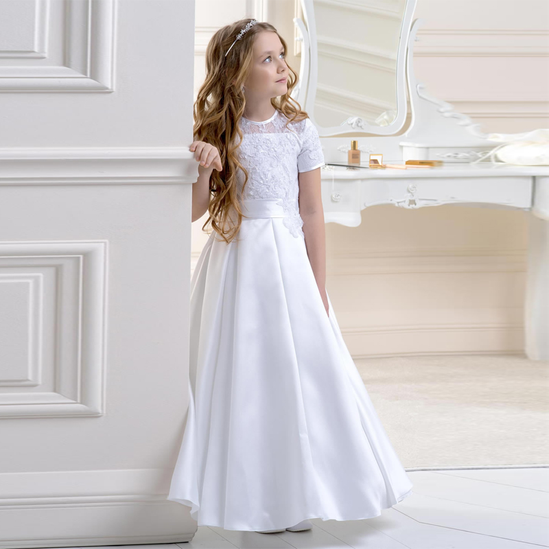 Adorable Girls Prom Dresses Cheap Price O Neckline Long Toddler ...