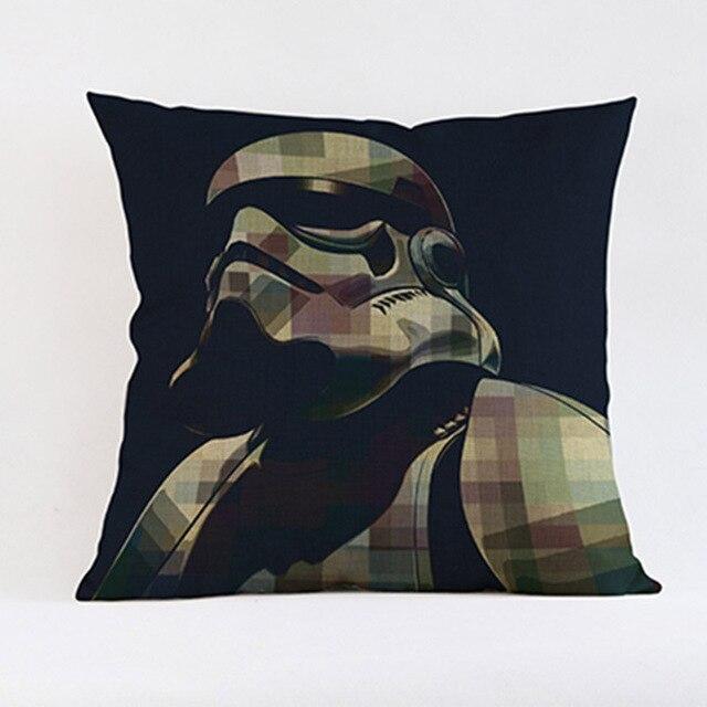 Classic Film Star Wars Splash-ink Caratteri di Stile Simbolo Federa Stormtrooper Maestro Yoda Darth Vader 3PO Cuscino