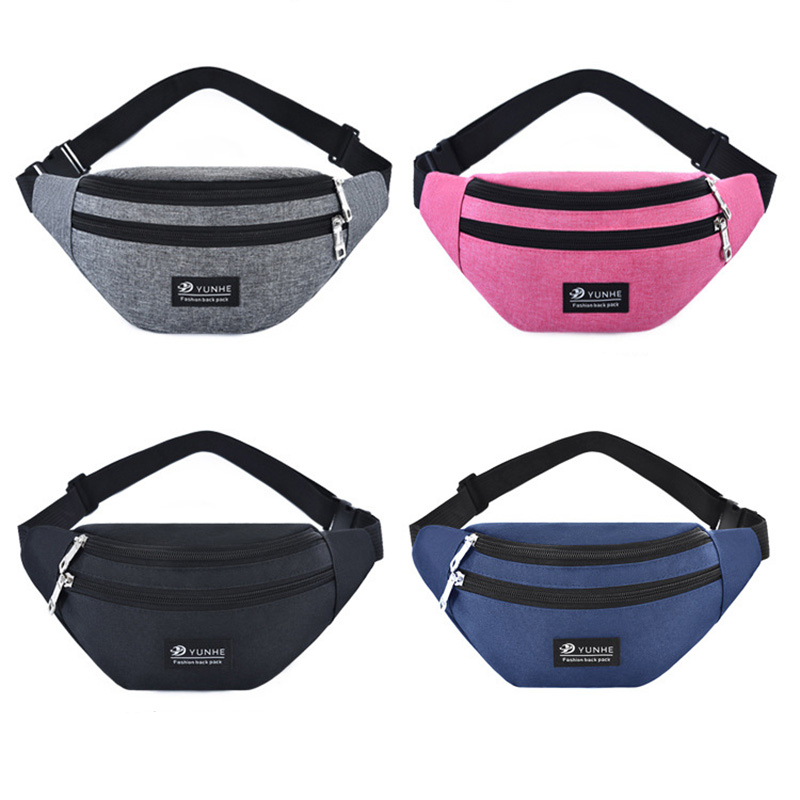 SHUJIN Fashion   For Women Men Waist Bag Colorful Unisex Waistbag Belt Bag Mobile Phone Zipper Pouch Packs Belt