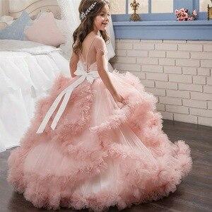 Image 3 - חדש ילדים תחרות ערב שמלות יום הולדת costum כדור שמלת ילדים ערב שמלה ראשית הקודש שמלות עבור בנות